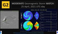 Moderate Geomagnetic Storm Watch For Sunday 25 April 2021 | National Oceanic and Atmospheric Administration