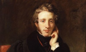 Edward Bulwer-Lytton, no doubt painted on a dark and stormy night